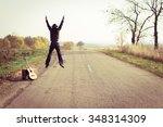 backview of guitar player in... | Shutterstock . vector #348314309