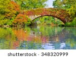 view of central park in new... | Shutterstock . vector #348320999