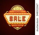 retro showtime sign design.... | Shutterstock .eps vector #348322067