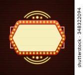 retro showtime sign design.... | Shutterstock .eps vector #348322094