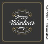 happy valentine's day greeting... | Shutterstock .eps vector #348322547