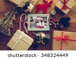 bright memories. top view of... | Shutterstock . vector #348324449