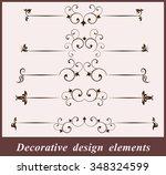 calligraphic design elements. | Shutterstock .eps vector #348324599