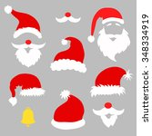 christmas photo booth and ... | Shutterstock .eps vector #348334919