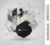 geometric polygonal elements....   Shutterstock .eps vector #348337211