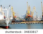 view on trading seaport with... | Shutterstock . vector #34833817