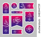 collection of new year 2016... | Shutterstock .eps vector #348344759