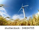 wind turbine   renewable energy ... | Shutterstock . vector #34834705