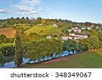 countryside of cambo les bains  ... | Shutterstock . vector #348349067