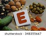 foods containing vitamin e  ...   Shutterstock . vector #348355667