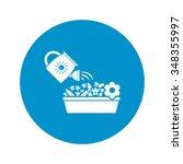 watering icon.  | Shutterstock .eps vector #348355997