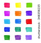 set of abstract colorful... | Shutterstock . vector #348358235