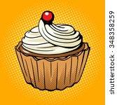 cake pop art style vector...   Shutterstock .eps vector #348358259