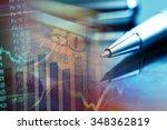 us dollars. macro image. | Shutterstock . vector #348362819