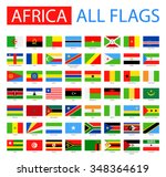 flags of africa   full vector... | Shutterstock .eps vector #348364619