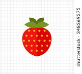 vector icon of single ripe... | Shutterstock .eps vector #348369275