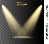 vector spotlights. scene. light ... | Shutterstock .eps vector #348372989