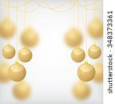 illustrations of christmas gold ... | Shutterstock . vector #348373361