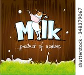 vector design with milk  cow ... | Shutterstock .eps vector #348379067