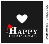 christmas candy heart... | Shutterstock .eps vector #348382427