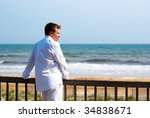 young handsome man dressed in... | Shutterstock . vector #34838671