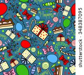 seamless pattern with gifts ...   Shutterstock .eps vector #348387095