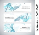 abstract geometric banner... | Shutterstock .eps vector #348399479