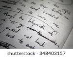Lyrics Scribbled On White Pape...