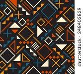 vector seamless retro 80's ... | Shutterstock .eps vector #348403829