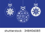blue and white christmas ball...