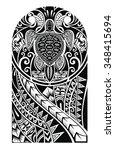 traditional maori tattoo design ... | Shutterstock .eps vector #348415694