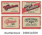 set of retro vintage merry... | Shutterstock .eps vector #348416504