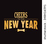 happy new year greeting card  ... | Shutterstock .eps vector #348416591
