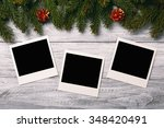 blank photo frames and... | Shutterstock . vector #348420491
