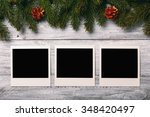 blank photo frames and... | Shutterstock . vector #348420497