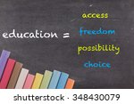 education  access  freedom ... | Shutterstock . vector #348430079