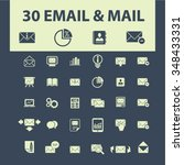 email  message  mail  icons ... | Shutterstock .eps vector #348433331