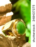 Jade Gold Ring With Beautiful...
