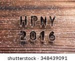 happy new year composition.... | Shutterstock . vector #348439091