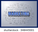 business success and marketing... | Shutterstock . vector #348445001