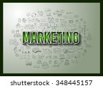business success and marketing... | Shutterstock . vector #348445157