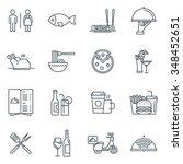 restaurant icon set suitable... | Shutterstock .eps vector #348452651