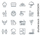 restaurant icon set suitable... | Shutterstock .eps vector #348452654