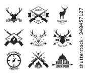 hunting club label  badges and... | Shutterstock .eps vector #348457127