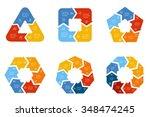 set of vector connected...   Shutterstock .eps vector #348474245