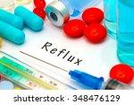 reflux  diagnosis written on a... | Shutterstock . vector #348476129