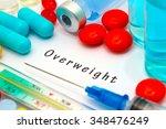 overweight   diagnosis written... | Shutterstock . vector #348476249