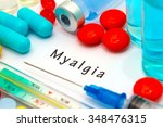 myalgia   diagnosis written on... | Shutterstock . vector #348476315