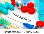 dorsalgia   diagnosis written... | Shutterstock . vector #348476651