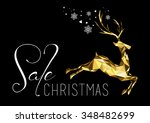 christmas sale illustration... | Shutterstock .eps vector #348482699